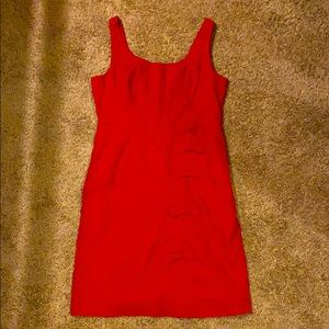 """Red Anthropologie """"cascading bows"""" dress"""